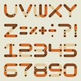 Vector flat alphabet in building kit style. Stock Photo
