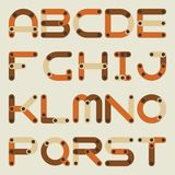 Vector flat alphabet in building kit style. Royalty Free Stock Image