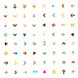 Vector Flat Arrows Set. Vector Colorful Flat Arrows Set Royalty Free Illustration