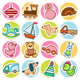 Vector flat baby icons set Royalty Free Stock Photography