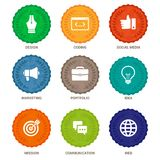 Vector flat badges Royalty Free Stock Images