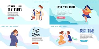 Vector Flat Banner online training courses royalty free illustration