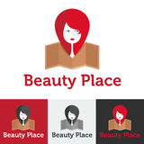 Vector flat beauty shop or spa salon logo set Stock Image
