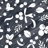 Vector flat berries, seamless creative pattern. Stock Photography