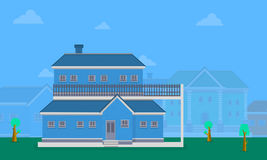 Vector flat of big house collection Royalty Free Stock Photos