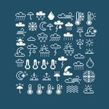 Vector flat 8 bit meteorology icons, collection of simple geomet Royalty Free Stock Photos