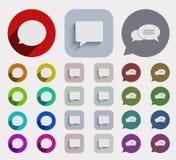 Vector flat bubble speech icons set. Stock Photos