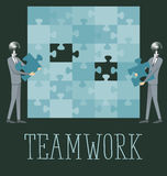 Vector Flat Business Concept Teamwork Royalty Free Stock Photos