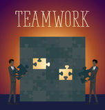 Vector Flat Business Concept Teamwork Stock Photography