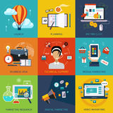 Vector flat business and finance concepts . Design Stock Images