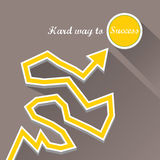 Vector flat Business graph and chart on grey. Background.vector golden grow up arrow Stock Photos