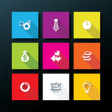 Vector flat business icon set Stock Photography