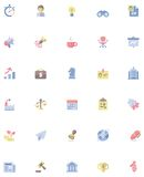 Vector flat business icon set Royalty Free Stock Image