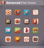 Vector flat business icons Royalty Free Stock Photography