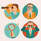 Vector flat business and strategy concepts vector illustration