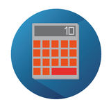Vector Flat Calculator With Long Shadow Royalty Free Stock Photo