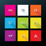 Vector flat car dashboard icon set Royalty Free Stock Images