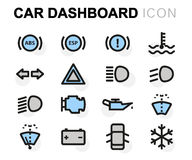 Vector flat car dashboard icons set Stock Photo