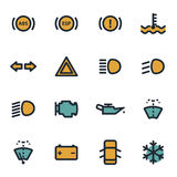 Vector flat car dashboard icons set Stock Images
