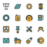 Vector flat car servise icons set Royalty Free Stock Photos