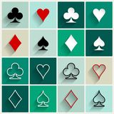 Vector flat card suit icons Royalty Free Stock Image