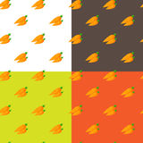 Vector flat carrots seamless pattern Stock Images