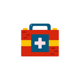 Vector flat cartoon red medicine chest Stock Photo