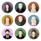 Vector flat characters Royalty Free Stock Photos
