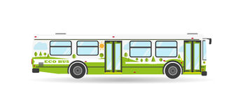 Vector flat city transit bus public transport vehicle Stock Photography