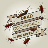Vector flat cockroach ribbon badge banner Royalty Free Stock Image