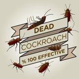 Vector flat cockroach ribbon badge banner. Icon Stock Illustration
