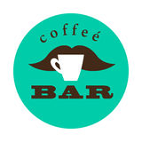 Vector flat coffee logo sample. Stock Image