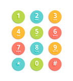 Vector Flat Colored Keypad For Phone Royalty Free Stock Photography