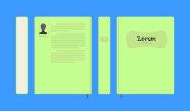 Vector flat colorful book layout Royalty Free Stock Photos