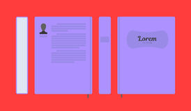 Vector flat colorful book layout Royalty Free Stock Images