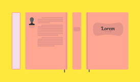 Vector flat colorful book layout Stock Images