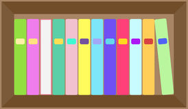 Vector flat colorful bookshelf layout Stock Photo