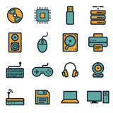 Vector flat computer icons set Stock Images