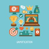 Vector flat concept - gamification Royalty Free Stock Images