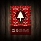 Vector flat concept of Merry Christmas or Happy Royalty Free Stock Photography