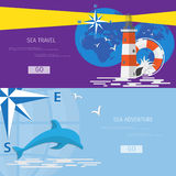 Vector flat concept of World travel and tourism. Stock Image
