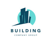 Vector flat construction company brand design template. Stock Image