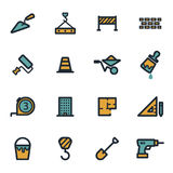 Vector flat construction icons set Royalty Free Stock Photo