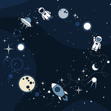 Vector flat cosmos design background Royalty Free Stock Photo
