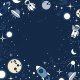 Vector flat cosmos design background Stock Photography