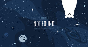 Vector flat cosmos design background Royalty Free Stock Images