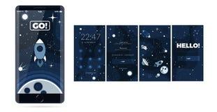 Vector flat cosmos design background Stock Image