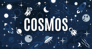 Vector flat cosmos design background Stock Images
