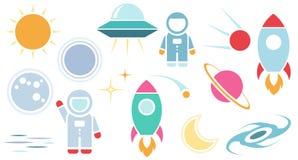 Vector flat cosmos design symbols Stock Image