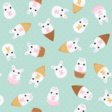 Vector flat creative bunny card Royalty Free Stock Images